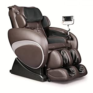 OS-4000 Zero Gravity Heated Reclining Massage Chair Upholstery: Charcoal/Beige