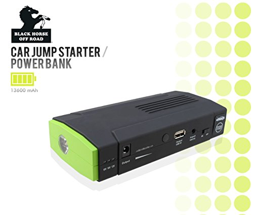 Black Horse 13600Mah Portable Mini 12V Car Jump Starter / Power Bank / Boost / Battery Pack front-847442
