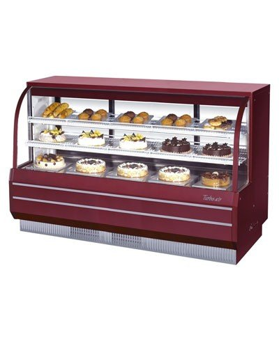 """Turbo Air Tcgb-72-2 72"""" Curved Glass Refrigerated Bakery Case front-611166"""
