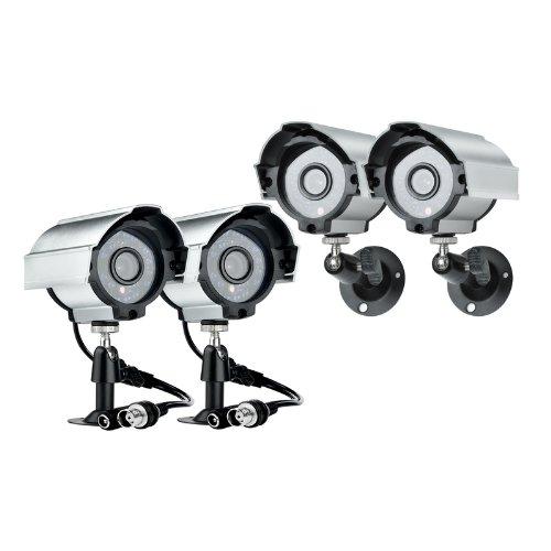 Zmodo 4 Sony Ccd Cctv Security Surveillance Outdoor Weatherproof Cameras Kit