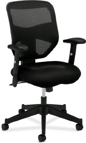 basyx by HON HVL531 Mesh Back Work Chair, Black