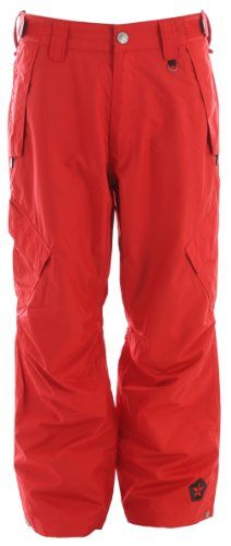 Sessions Achilles Shell Snowboard Pants Red Mens Sz L