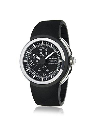 Fortis Mens 661.20.31 K Spaceleader Black/Black Stainless Steel Watch