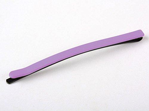 大人 子供 無地 ヘアピン ヘアアクセサリー 学生 マット#薄紫色