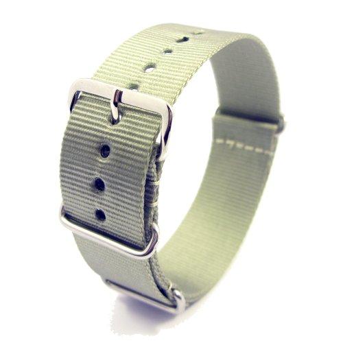 Zeitpunkt-Nylon Watchband grey 20 mm