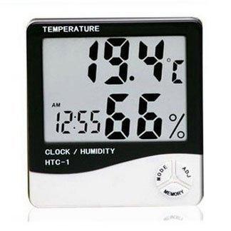 Eastvita® LCD Display Temperature and Humidity Meter with Alarm Clock Hygrometer