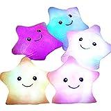 Blue Glowing Colorful Luminous LED Star Plush Pillow Stuffed Toys