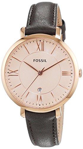 Fossil ES3707 - Reloj para mujeres, correa de cuero color marrón