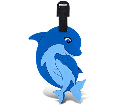 WeGlow International Fun Luggage Tag - Mama Dolphin