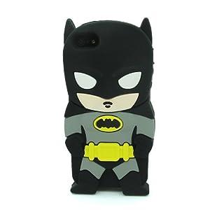 L&L Batman Bat Man Soft Silicone Case Skin Cover for Apple iPhone 5 5s 5G 5th Generation -Batman Black at Gotham City Store