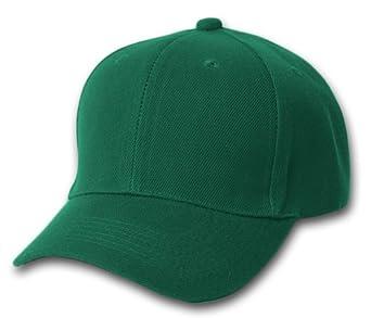 plain summer baseball cap hat forest green at