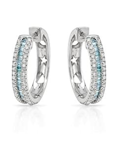 Genuine Morne Rouge (TM) Earrings. 0.65 Ctw Diamonds Sterling Silver Earrings. 3.9 Grams in Weight and 19 mm in Length. 100% Satisfaction Guaranteed.