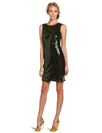 Jessica Simpson Women's Sequin Tank Dress, Scarab, 2