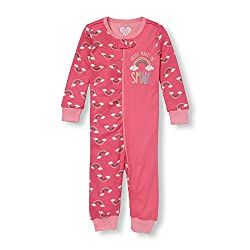 The Children's Place Girls' Sleepsuit (2065708_Tropical Rose_2 - 3 Years)