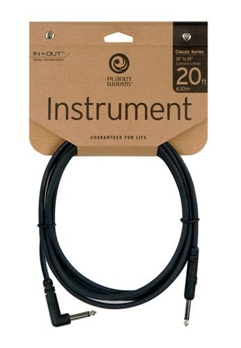 Planet Waves Classic Series Instrument Cable, Right Angle, 20 feet