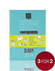 Family Rules A5 Week to View 2014 Diary