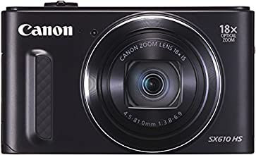 Canon PowerShot SX610 HS Digitalkamera (20,2 Megapixel CMOS, HS-System, 18-fach optisch, Zoom, 36-fach ZoomPlus, opt. Bildstabilisator, 7,5 cm (3 Zoll) Display, Full HD Movie, WLAN, NFC) schwarz