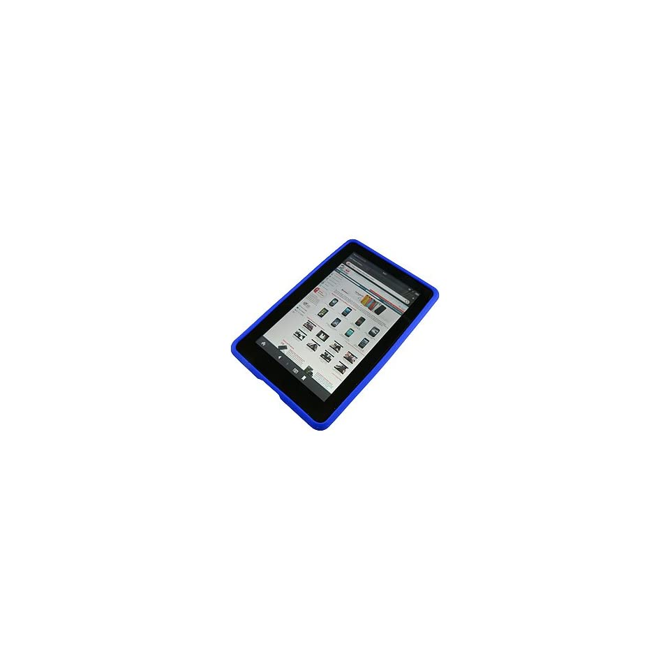AM Soft Sleeve Gel Cover Skin Case for  Kindle Fire  Blue