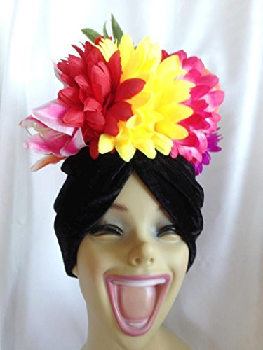 Carmen Miranda Feather Hat Headpiece Fruits Showgirl Costume Accessory Banana rb