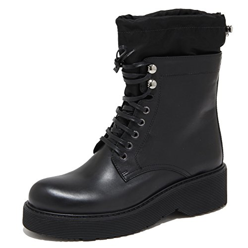 6633N stivale donna PRADA SPORT pelle nero shoes woman boots [38]