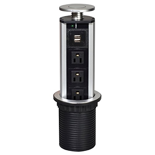 Ahyuan Pulling Pop Up USB Outlet, Tabletop Safe Hidden Outlet for Office, Meeting Room, Home