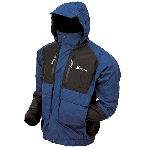 Frogg Toggs Men's Firebelly 2-Tone Jacket, Dust Blue/Black, Large (Gore Tex Rain Suit compare prices)