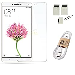 APS GOLD Xiaomi Mi Max TEMPERED GLASS WITH SIM ADAPTER + USB DATA CABLE ACCESSORY COMBO