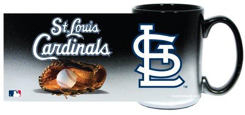 St. Louis Cardinals Jumbo 15Oz Black & Chrome Glove Mug
