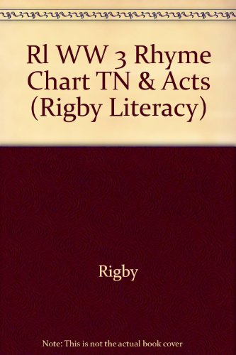 Rigby Literacy: Teaching Notes & Activities Word Works Rhyme Chart, Phonics