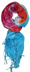 LibbySue-Color-Blocked Tie-Dye Print…
