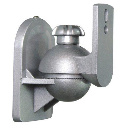 Speaker Wall Mount for satellite speakers, Silver - Pair