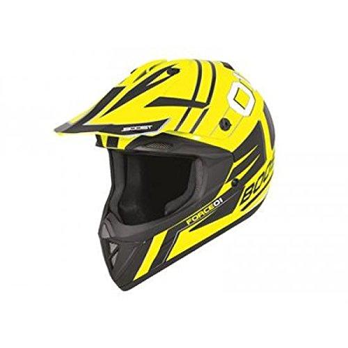 Cassque boost b690 force 01 jaune fluo/noir l - Boost 433512L