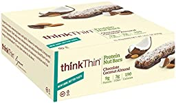thinkThin Lean High Protein and Fiber Bars - Chocolate Almond Coconut - 1.1 oz. - 10 ct