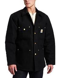 Carhartt Men\'s Duck Chore Coat Blanket Lined C001,Black,Medium