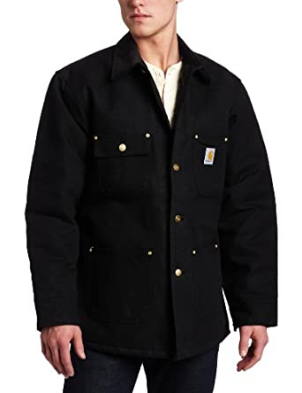 Carhartt Men's  Duck Chore Coat, Black, Medium