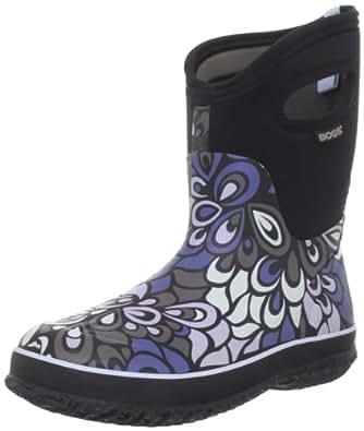 Bogs Women's Classic Mid Vintage Waterproof Boot,Black Multi,6 M US