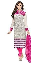 new designer pink chanderi cotton festival salwar suit dress material