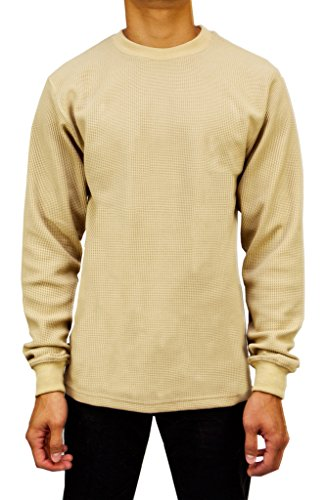 Access Men's Heavyweight Long Sleeve Thermal Crew Neck Top Khaki Extra Large (39 Inch Men Khakis compare prices)