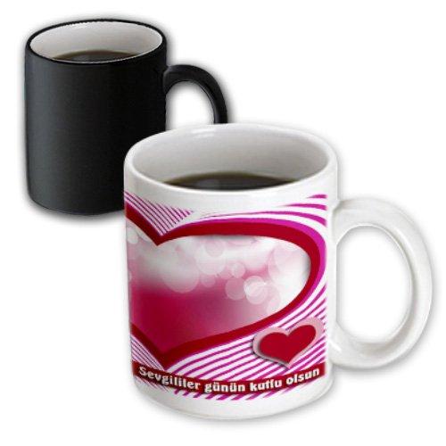 Beverly Turner Valentine Design - Sevgililer Günün Ku Happy Valentines Day In Turkish, Heart And Bubble - 11Oz Magic Transforming Mug (Mug_40285_3)