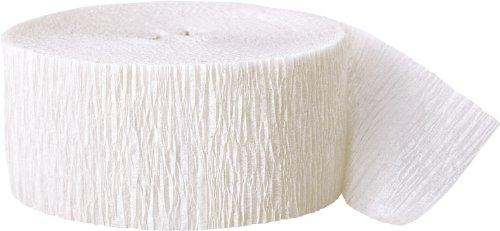 Crepe Paper Streamers, 81 Feet, White (Crepe Paper White compare prices)