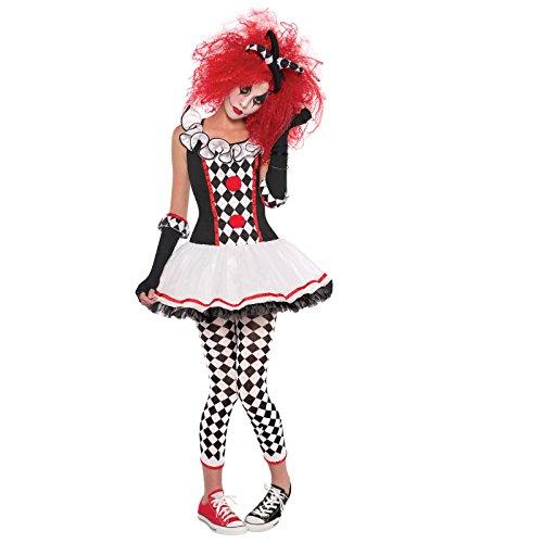 ハロウィンコスチューム ピエロ・道化師 仮装衣装  舞踏会・学園祭・パーティー  レディースコスチューム 魔女演出