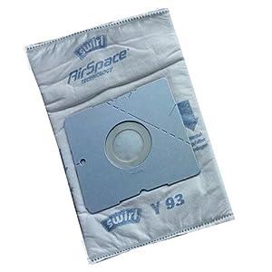 Swirl Y 05 AirSpace 4 Staubsaugerbeutel + 1 Filter, saugstark, verschließbare Halteplatte