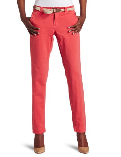 D.E.P.T. Women's Soft Washed Twill Pant, Peach Pink, Large