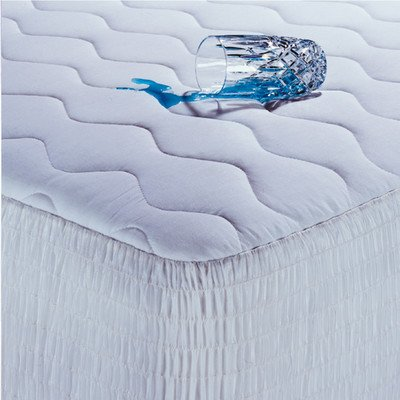 100% Cotton Waterproof Mattress Pad With Antimicrobial Fill Size: California King front-1052219