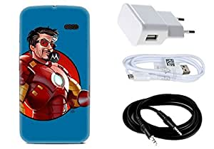 Spygen MOTOROLA Moto X Case Combo of Premium Quality Designer Printed 3D Lightweight Slim Matte Finish Hard Case Back Cover + Charger Adapter + High Speed Data Cable + Premium Quality Aux
