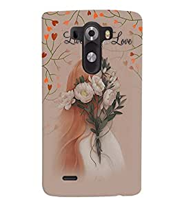 Fuson Premium Live Laugh Love Printed Hard Plastic Back Case Cover for LG G3