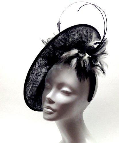 Dish Profile Kentucky Derby Fascinator Feather Sinamay