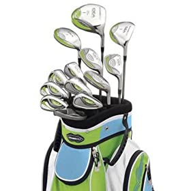 Adams Golf A3OS 13 Piece Ladies Intergrated Sets (1,3, & 5 Wood, 4-9 Hybrids, PW, GW, SW, & Mallet Putter)
