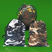 Camouflage Drawstring Bags - 12 per unit