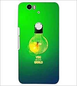 PrintDhaba Quote D-2863 Back Case Cover for HUAWEI NEXUS 6P (Multi-Coloured)